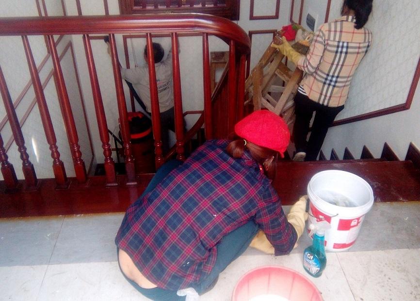 Dọn vệ sinh biệt thự tại Hưng Yên