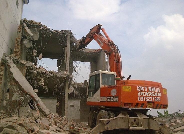 phá dỡ các công trình xây dựng