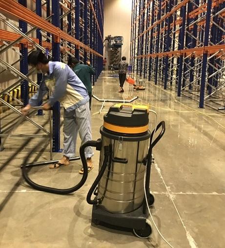 Vệ sinh công nghiệp nhà xưởng Thăng Long Logistic Hưng Yên